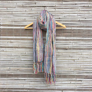 URBAN OUTFITTERS . SCARF . MULTI COLOR . FRINGE
